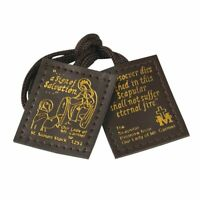 Brown Leather Scapular Catholic by DeziLoo