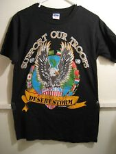 SUPPORT OUR TROOPS, OPERATION DESERT STORM mens tshirt, size medium new without
