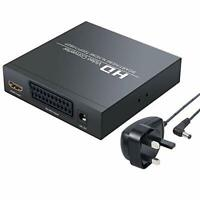 LiNKFOR SCART to HDMI Converter SCART + HDMI to HDMI Converter Adapter Supports