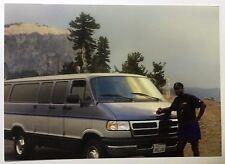 Vintage PHOTO Man Posed With Dodge Van Tour Bus