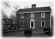 Colonial Saltbox house, architectural blueprint, birthplace of a President