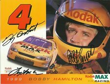 Bobby Hamilton NASCAR Original Autographed 8x11 Signed Kodak Racing Hero Card