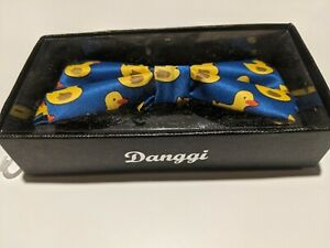 Danggi Rubber Ducky Bowtie blue & yellow 100% Polyester tie fun humor