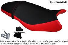 Rojo Y Negro Custom encaja Triumph Street Triple 675 13-15 Doble Cubierta De Asiento