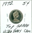 1972 CANADA 5 CENTS TOP GRADE UltraHeavyCam SHIPPING 50 CENTS PENNEY AUCTION