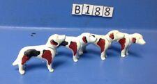 (B188) playmobil 4 chiens de chasse à court ferme, forêt