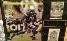"""Detriot Lions super star wide out Calvin """"Megatron"""" Johnson signed Plaque + coa"""