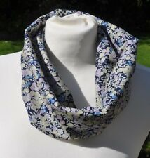 Infinity Scarf in Liberty Tana Lawn cotton 'Wiltshire Berry' blue lilac ivory