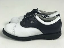 NEW ADIDAS WOMENS WHITE & NAVY CAPTOE GOLF SHOES SIZE 5.5 M US