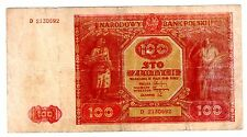 Pologne POLAND Billet  100 ZLOTYCH 1946  P129   BON ETAT