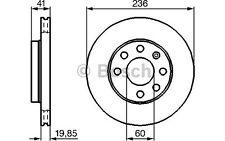 BOSCH Juego de 2 discos freno Antes 236mm ventilado RENAULT CLIO 0 986 478 192
