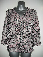 Chiffon Animal Print Blouses for Women NEXT