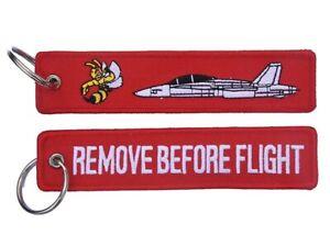 F/A18B Hornet Remove Before Flight Key Ring Luggage Tag