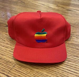 Apple Macintosh Computers Vintage 90s Rainbow Logo Promo Employee Snapback Hat