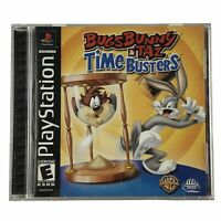 Bugs Bunny & Taz: Time Busters (Sony PlayStation 1, 2000) Complete w/Manual CIB