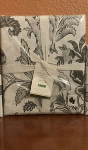 POTTERY BARN KING CASELYN PALAMPORE  DUVET COVER NO SHAM GRAY/BLACK CHARCOAL