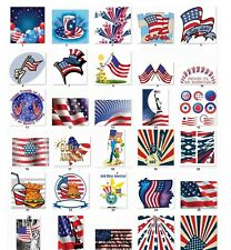 Personalized Return Address labels US Flags Buy 3 get 1 free {f1}