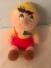 VINTAGE SMALL DISNEY GEPETTO'S WORKSHOP PINOCCHIO PLUSH DOLL FIGURE CHARACTER