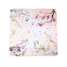 """Mid-Sized 28""""x28"""" Square Silk Scarf Champagne Theme Floral Print ZFD215"""