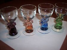 4 Blefeld & Co. Vintage Cordial Glasses Made in Portugal