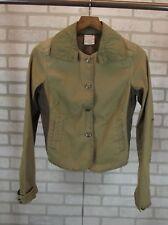 Free People Womens Blazer Jacket Size S Small Coat Brown Tan Button Down Cotton