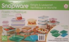 SNAPWARE Plastic Food Storage Containers BPA FREE AirTight Leakproof 34 Pc Set