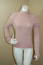 PAPER DENIM&CLOTH PaperCashmere Dirty Pink 100% Cashmere Turtleneck Sweater~2