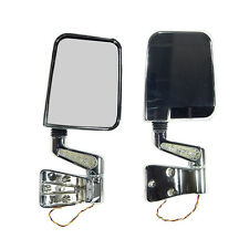 JEEP WRANGLER YJ TJ 1987 - 2006 DOOR LED MIRRORS IN CHROME RUGGED RIDGE
