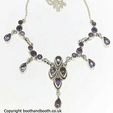 Stunning Multi Stone Amethyst & Sterling Silver Necklace