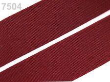 2 METER Gummiband Gummibänder Band  20 mm  bordeaux-rot (Grundpreis: 1,30€/m)