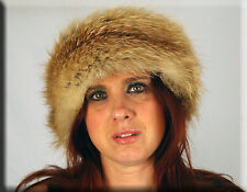 New Golden Fox Fur Headband - One Size Fits All-Efurs4less