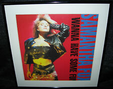 "SAMANTHA FOX I Wanna Have Some Fun (Framed 1988 U.S. ""In-Store"" Promo Flat)"