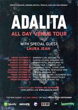 ADALITA 2013 Australian Tour Poster A2 All Day Venus MAGIC DIRT Tough Love *NEW*