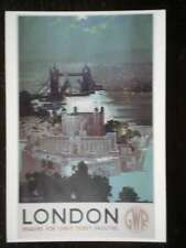 POSTCARD ADVERT GWR RAILWAYS - LONDON ENQUIRE FOR CHEAP TICKETS -