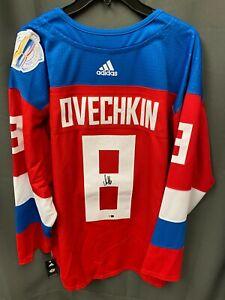 Alexander Ovechkin Signed Adidas Russia World Cup Hockey Jersey FANATICS COA XL