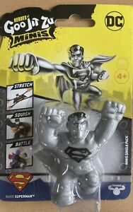 Heroes of Goo Jit Zu DC Minis- Rare Silver Superman- Fast (24hr) Delivery