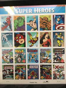 Marvel Comics Super Heroes Sheet Twenty Framed 41c Stamps Scott 4159 USPS Chap 2