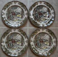 SET of 4  Johnson  Brothers  FRIENDLY VILLAGE Dessert / Bread & Butter Plates