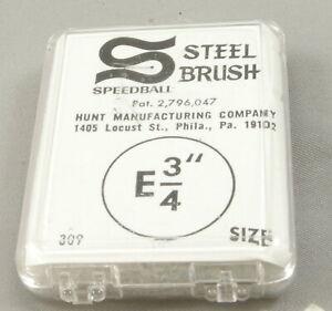 Speedball E 3/4 Steel Brush Nib - Mint Unused In Box