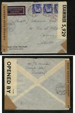 Netherlands  Indies   double  censor cover       MS1231