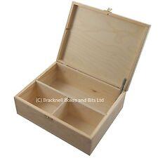 3 compartment wooden storage box DD402 trunk chest wood e-cig liquid