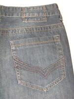 Guess Jeans Mens Lucas Straight Leg Dark Distressed 33 X 31