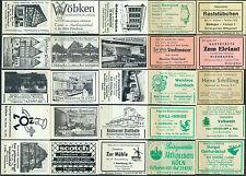 25 alte Gasthaus-Streichholzetiketten aus Deutschland #9