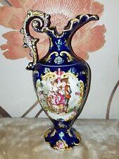 Antique Victorian 19th Staffordshire Jug/Pitcher Cobalt Blue 24.5cm