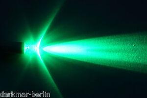 LED 1,5 Volt grün 5mm, Low Voltage LED, 1Volt Leuchte