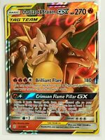 Charizard & Braixen GX TAG TEAM ULTRA RARE 22/236 SM Cosmic Eclipse Pokemon NM
