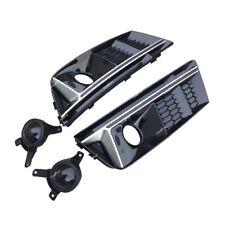 Paar Vorne Sline Style Gitter Nebelscheinwerfer Abdeckung Für AUDI A4 B9 16-17
