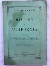 Randolph Edmund ADDRESS On The HISTORY Of CALIFORNIA From the Discovery 1860