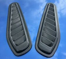 Ford Fiesta RS Turbo decorative bonnet vents universal - Carbon fibre effect ABS