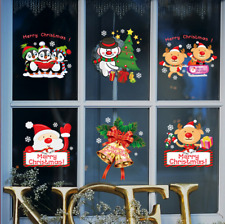 Fun Christmas Vinyl Window / Wall Stickers Decal Removable Home Room Decor UK
